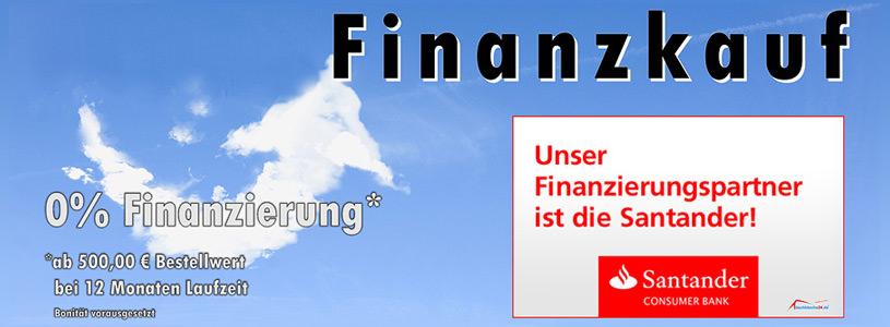 Unser Finanzierungpartner ist die Santander